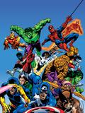 Portada de Guerras secretas, Capitán América Cartel de plástico por Mike Zeck