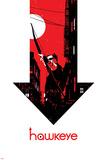 Hawkeye 6 Cover: Hawkeye Targa di plastica di David Aja