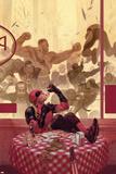 Thunderbolts 17 Cover: Deadpool, Red Hulk, Punisher, Venom, Elektra, Leader Targa di plastica di Julian Totino Tedesco