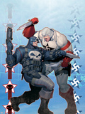 Punisher War Journal No.8 Cover: Punisher and Hate-Monger Plastikskilt af Ariel Olivetti