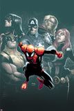 Superior Spider-Man 7 Cover: Spider-Man, Spider Woman, Wolverine, Captain America, Black Widow Plastic Sign by Humberto Ramos
