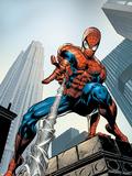 Amazing Spider-Man No.520 Cover: Spider-Man Swimming Targa di plastica di Mike Deodato