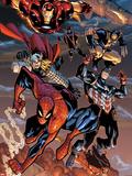 The Amazing Spider-Man No.648: Spider-Man, Captain America, Thor, Iron Man, Wolverine, and Hawkeye Plastskilt av Humberto Ramos