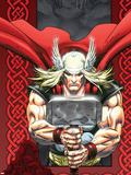 Thor: Blood Oath No.6 Cover: Thor Plastic Sign by Scott Kolins
