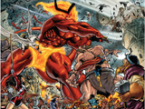 Thor No.85 Group: Surtur and Beta-Ray Bill Signe en plastique rigide par Andrea Di Vito