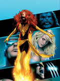 X-Men: Phoenix - Endsong No.2 Cover: Phoenix, Beast, Emma Frost, Cyclops and Wolverine Plastikskilt af Greg Land