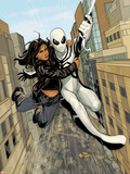 X-23 No.13: Spider-Man and X-23 Swinging through the City Plastic Sign by Phil Noto
