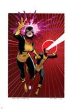 X-Men 5 Cover: Grey, Jean, Cyclops Placa de plástico por Arthur Adams
