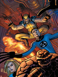 Wolverine No.22 Cover: Wolverine Cartel de plástico por John Romita Jr.