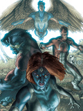 Dark X-Men No.1 Cover: Mystique, Dark Beast and Omega Plastic Sign by Simone Bianchi