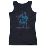 Juniors Tank Top: Airwolf - Graphic Womens Tank Tops