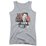 Juniors Tank Top: Parks & Recreation - Don't Screw Up Womens Tank Tops