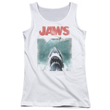 Juniors Tank Top: Jaws - Vintage Poster Womens Tank Tops