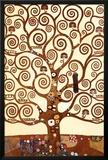 A Árvore da Vida, Stoclet Frieze, cerca de 1909, detalhe Pôsters por Gustav Klimt