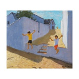Jumping Off a Wall, Mykonos, 2015 Giclee Print by Andrew Macara