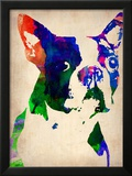 Boston Terrier Watercolor Posters por  NaxArt