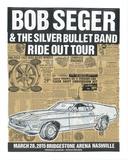 Bob Seger Ride Out Tour Serigrafi (silketryk) af  Print Mafia