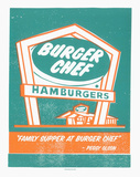 Mad Men Burger Chef Sérigraphie par  Print Mafia