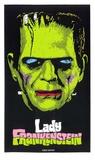 Lady Frankenstein Serigrafia por  Print Mafia
