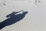 The Shadow of Artist and Poet Barry Edgar Pilcher Is Cast on the Sand Reproduction photographique par Cathal McNaughton