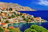Wonderful Greece. Symi Island , Dodecanese Fotografisk tryk af  Freesurf