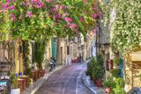 Traditional Houses in Plaka Area under Acropolis ,Athens,Greece Fotografisk tryk af  anastasios71