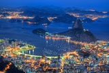 View from Corcovado Rio De Janeiro Reproduction photographique par  lhboucault