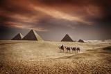 Pyramids of Egypt Fotografisk tryk af  feferoni