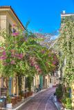 Traditional Houses in Plaka Area under Acropolis ,Athens,Greece Premium fototryk af  anastasios71