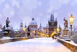 Charles Bridge, Old Town Bridge Tower, Prague (Unesco), Czech R Photographic Print by  kaprikfoto