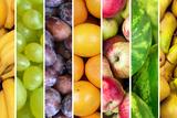 Fruit Collage - Group of Various Fresh Fruits Photographic Print by Aleksandar Mijatovic