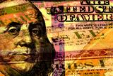 Double Exposure Hundred Dollar Bill and US Treasury Savings Bond Fotografisk trykk av  larryhw