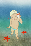 Baby and Sea,, Relaxation Prints by  vipa21