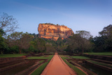 Sigiriya. Lion's Rock and Gardens at Sunset, Sri Lanka Photographic Print by  honzahruby