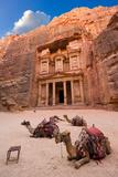 Petra in Jordan Fotografisk tryk af Robert Hoetink