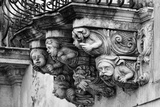 Italy, Sicily, Ragusa, Zacco Palace Baroque Facade and Balconies Photographic Print by Angelo Giampiccolo
