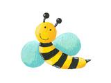 Cute Bee Flying Julisteet tekijänä  andreapetrlik
