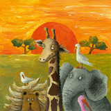 Animals in African Savanna Prints by  andreapetrlik