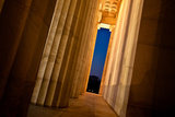 Lincoln Memorial Columns - Washington Dc, USA Photographic Print by  EvanTravels