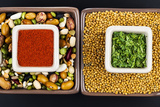 Raw Seeds, Grains and Spices Perfect for Healthy Diet. Photographic Print by  sanjanjam