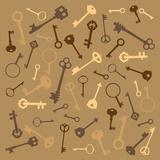 Background with Scattered Keys Arte por  polinina