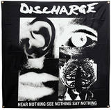 Discharge Hear Nothing Flag Plakat