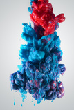 Ink Color Drop, Blue and Red Photographic Print by  sanjanjam