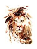 Lion Reproduction procédé giclée par  okalinichenko
