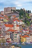 Adriatic Town of Sibenik Waterfront Fotografisk trykk av  xbrchx