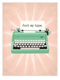 Vintage_Typeweriter1 Poster di Jilly Jack Designs