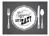 KitchenBar_BonAppetit Posters van Jilly Jack Designs
