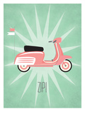 Vintage_Scooter2 Posters by Jilly Jack Designs