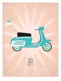Vintage_Scooter1 Prints by Jilly Jack Designs