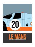 Le Mans Poster 2 Metalldrucke von Anna Malkin
